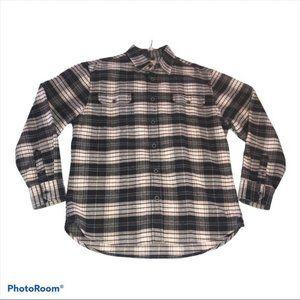 Jachs Flannel Shirt Jacket Black White